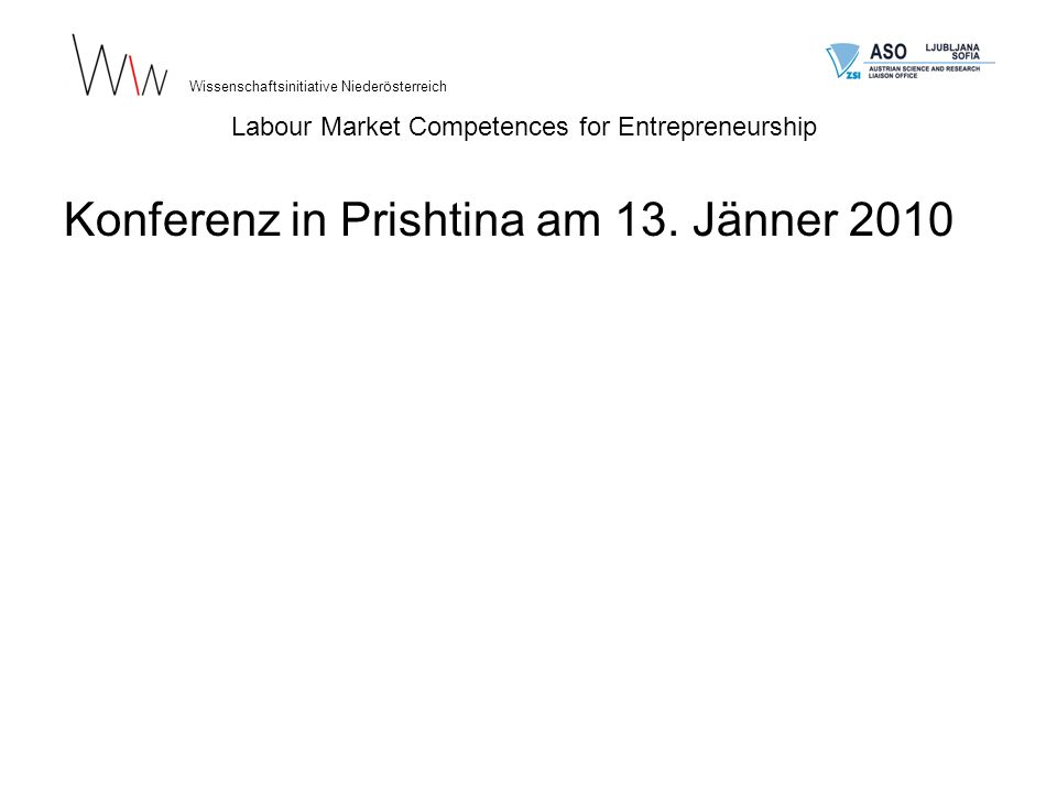Konferenz in Prishtina am 13.