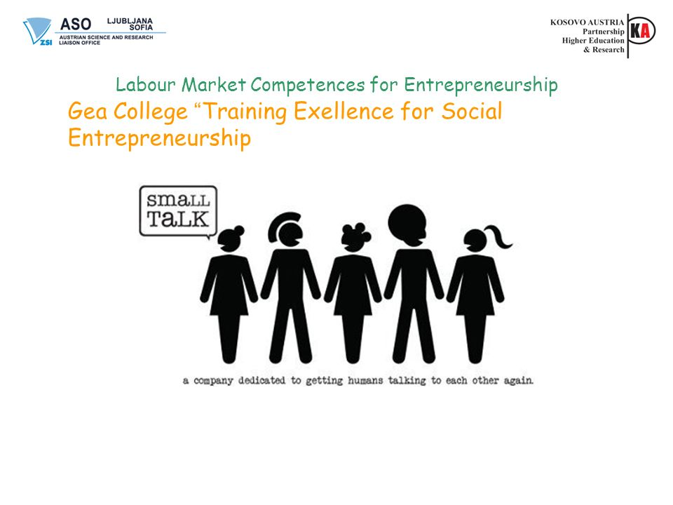 Labour Market Competences for Entrepreneurship Gea College Training Exellence for Social Entrepreneurship
