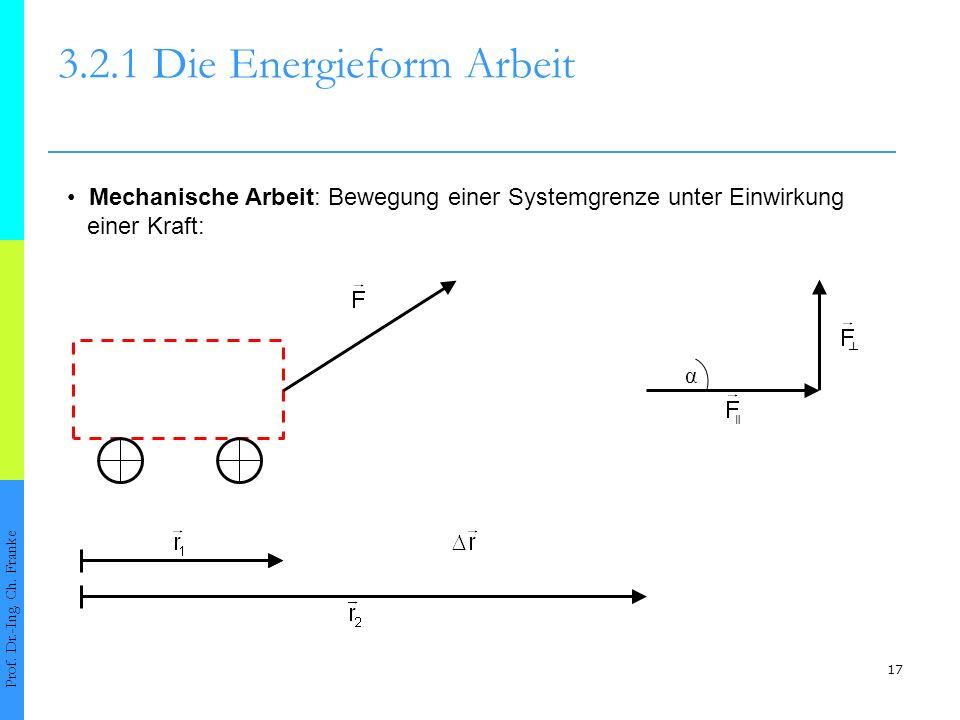 17 3.2.1 Die Energieform Arbeit Prof.Dr.-Ing. Ch.