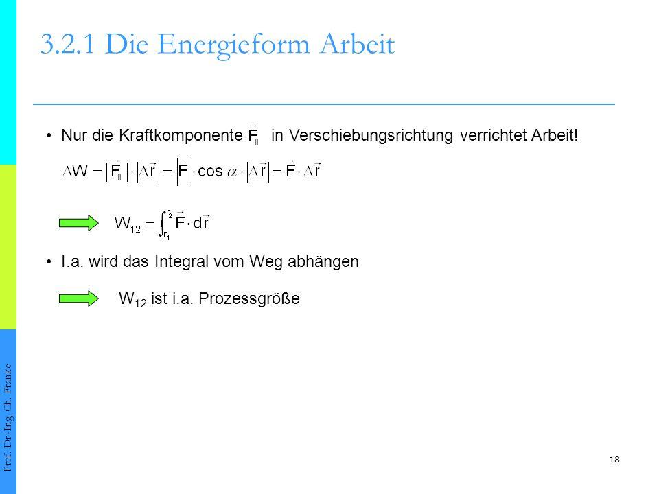 18 3.2.1 Die Energieform Arbeit Prof.Dr.-Ing. Ch.