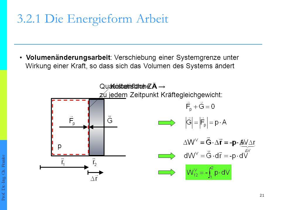 21 3.2.1 Die Energieform Arbeit Prof.Dr.-Ing. Ch.