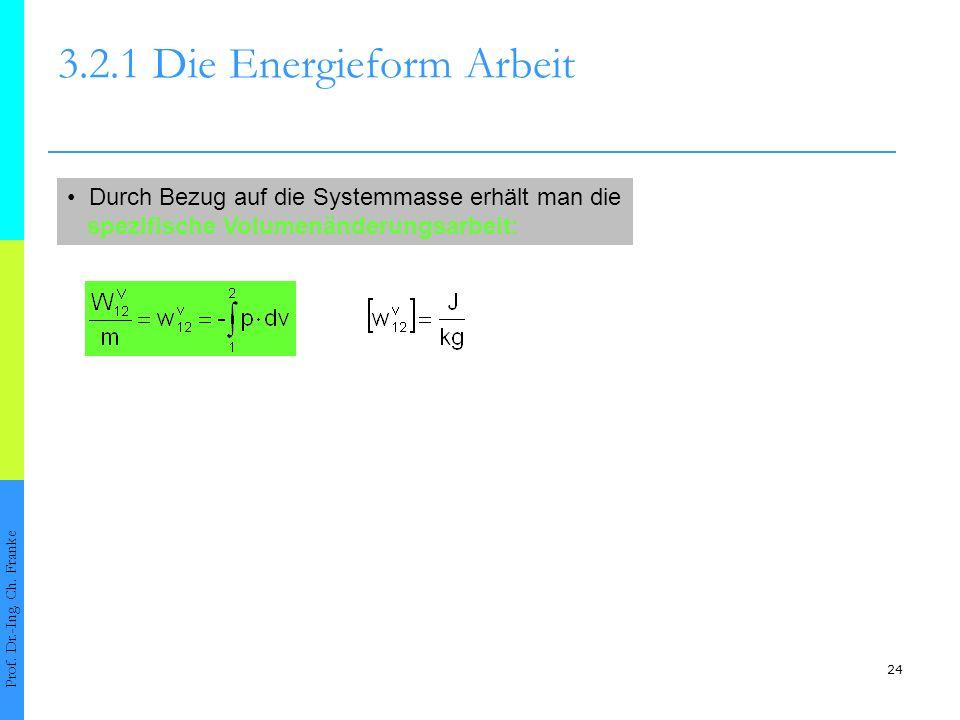 24 3.2.1 Die Energieform Arbeit Prof.Dr.-Ing. Ch.