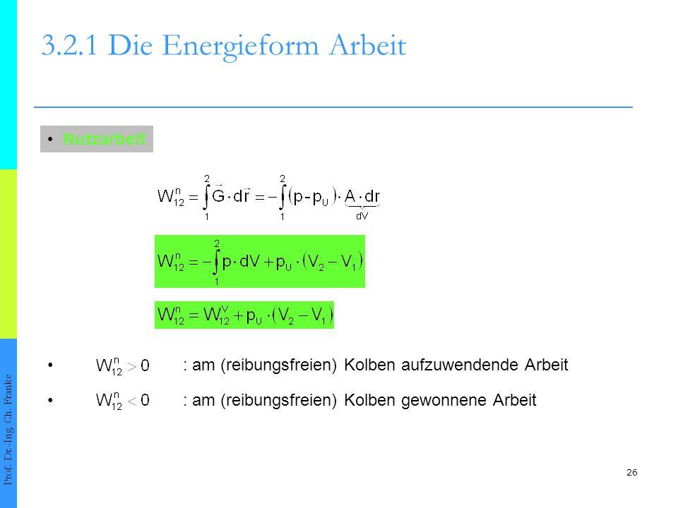 26 3.2.1 Die Energieform Arbeit Prof.Dr.-Ing. Ch.