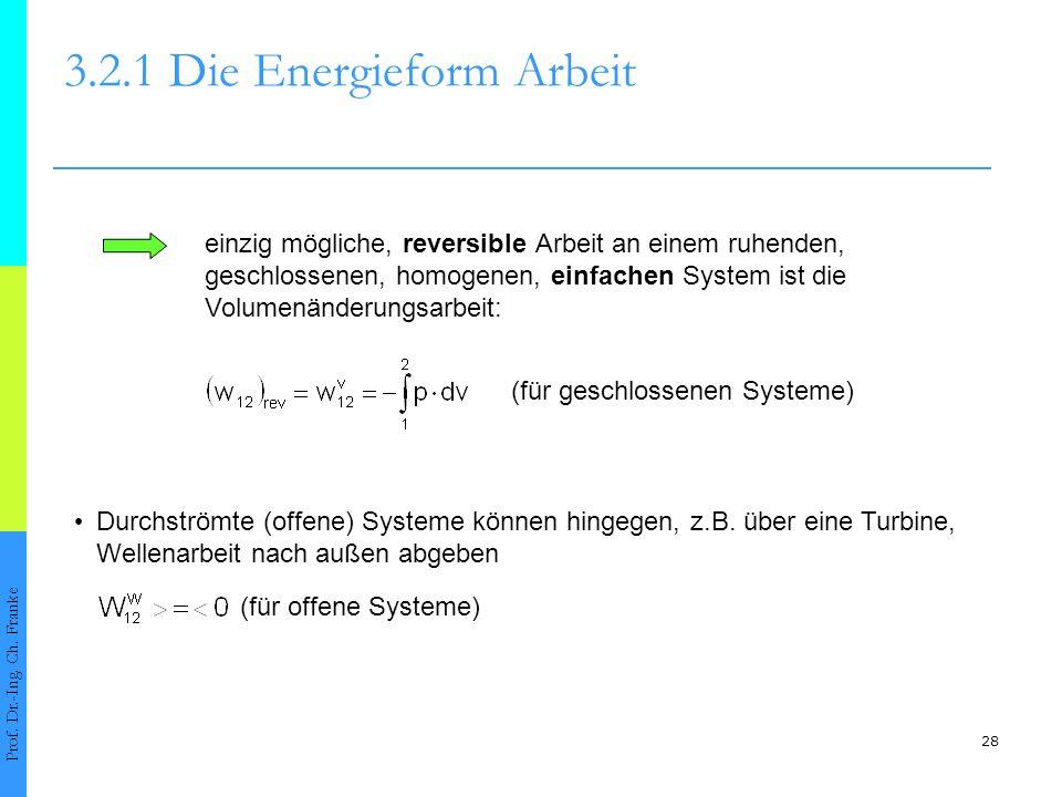 28 3.2.1 Die Energieform Arbeit Prof.Dr.-Ing. Ch.