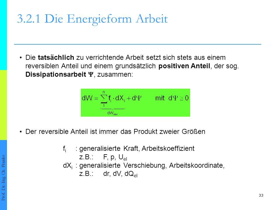 33 3.2.1 Die Energieform Arbeit Prof.Dr.-Ing. Ch.