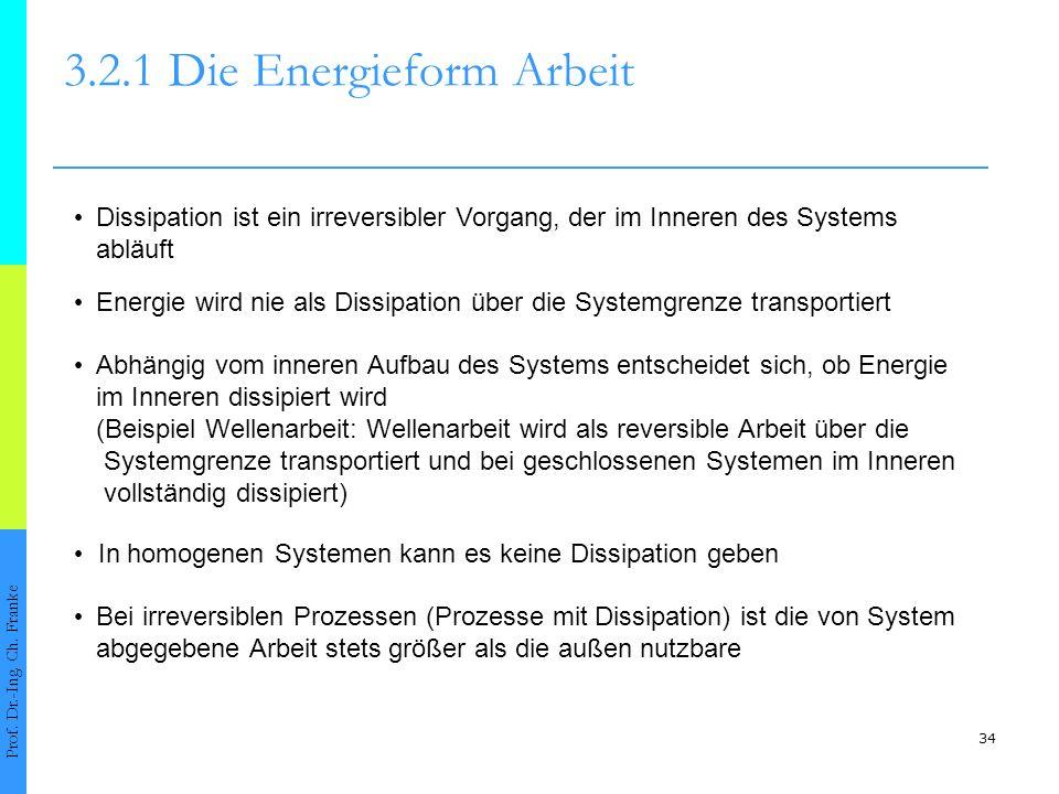 34 3.2.1 Die Energieform Arbeit Prof.Dr.-Ing. Ch.