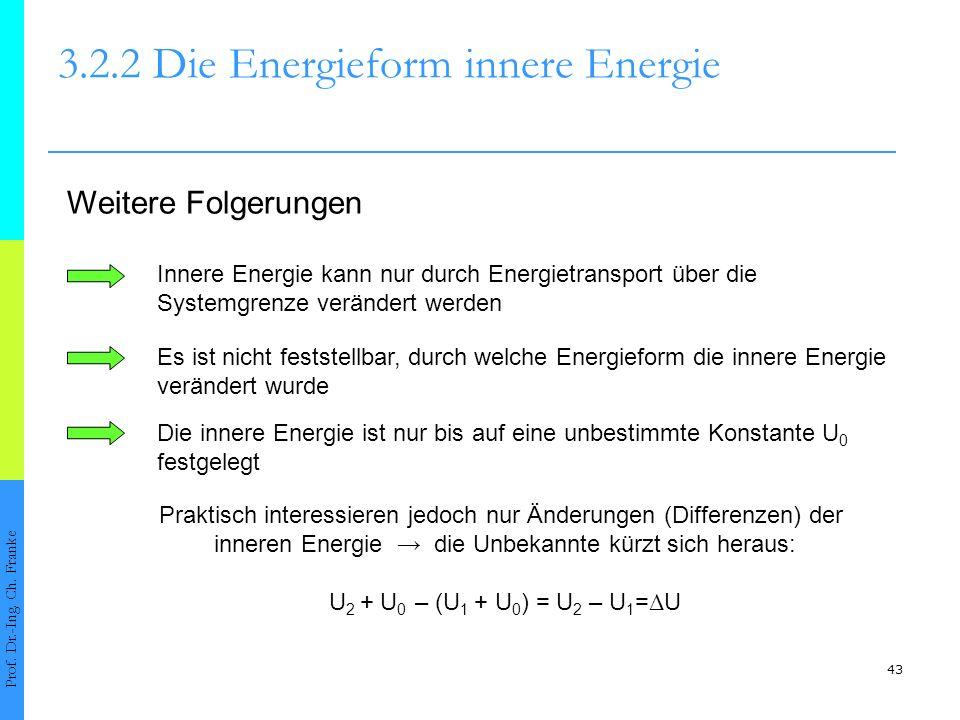 43 3.2.2 Die Energieform innere Energie Prof.Dr.-Ing.