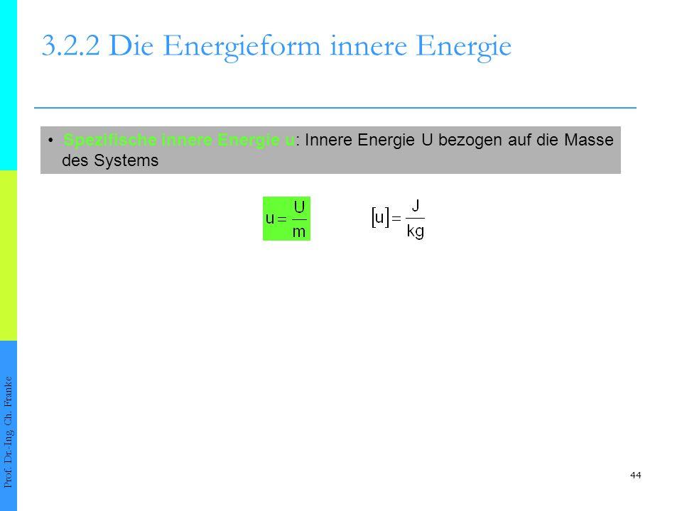 44 3.2.2 Die Energieform innere Energie Prof.Dr.-Ing.