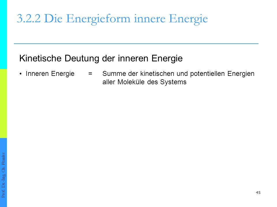 45 3.2.2 Die Energieform innere Energie Prof.Dr.-Ing.
