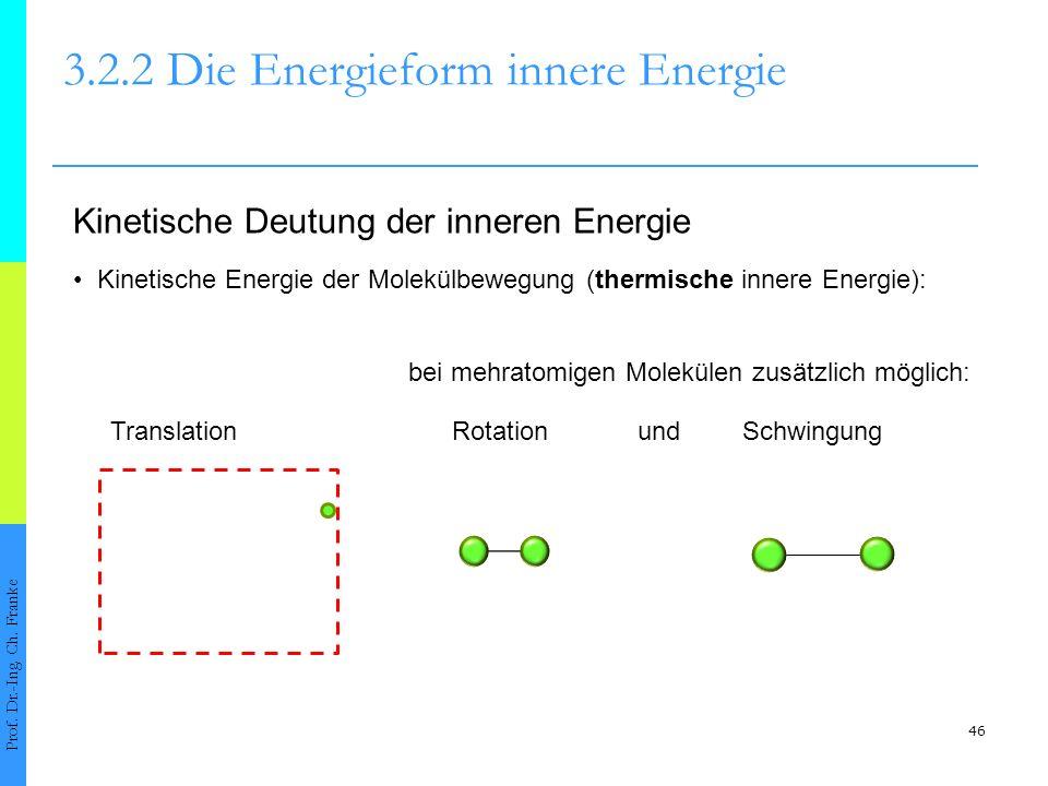 46 3.2.2 Die Energieform innere Energie Prof.Dr.-Ing.