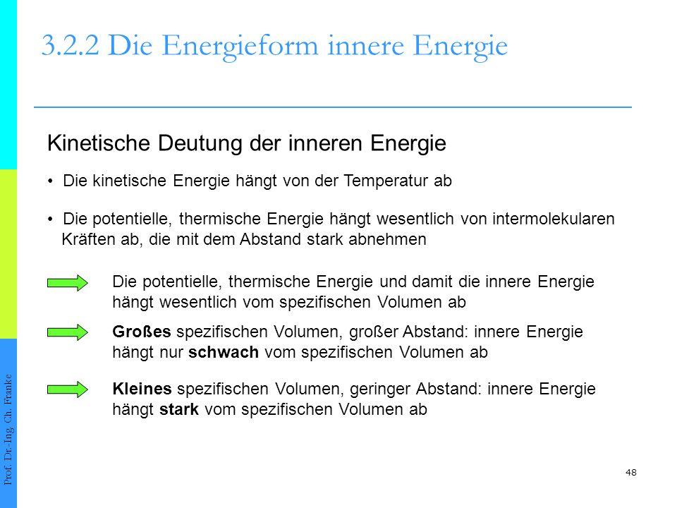 48 3.2.2 Die Energieform innere Energie Prof.Dr.-Ing.