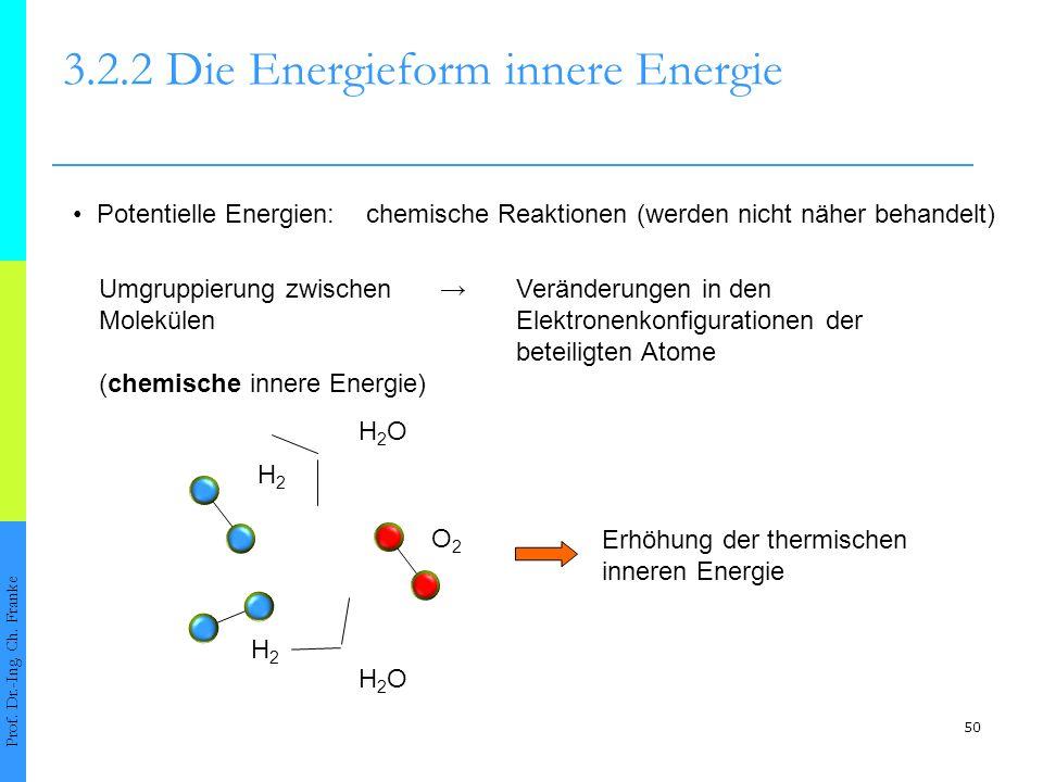 50 3.2.2 Die Energieform innere Energie Prof.Dr.-Ing.