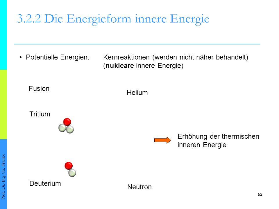 52 3.2.2 Die Energieform innere Energie Prof.Dr.-Ing.