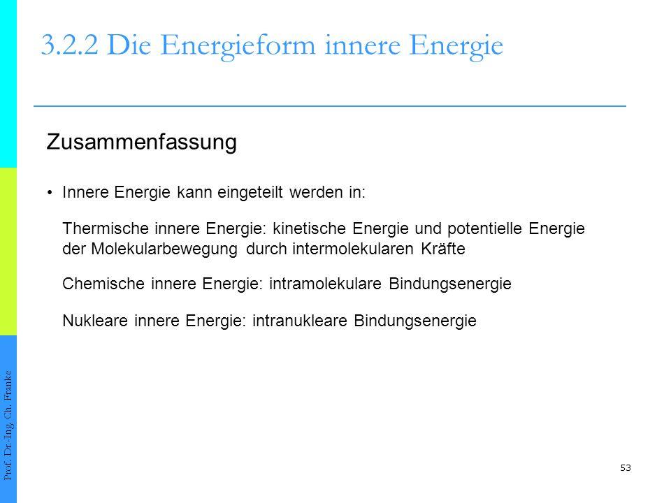 53 3.2.2 Die Energieform innere Energie Prof.Dr.-Ing.