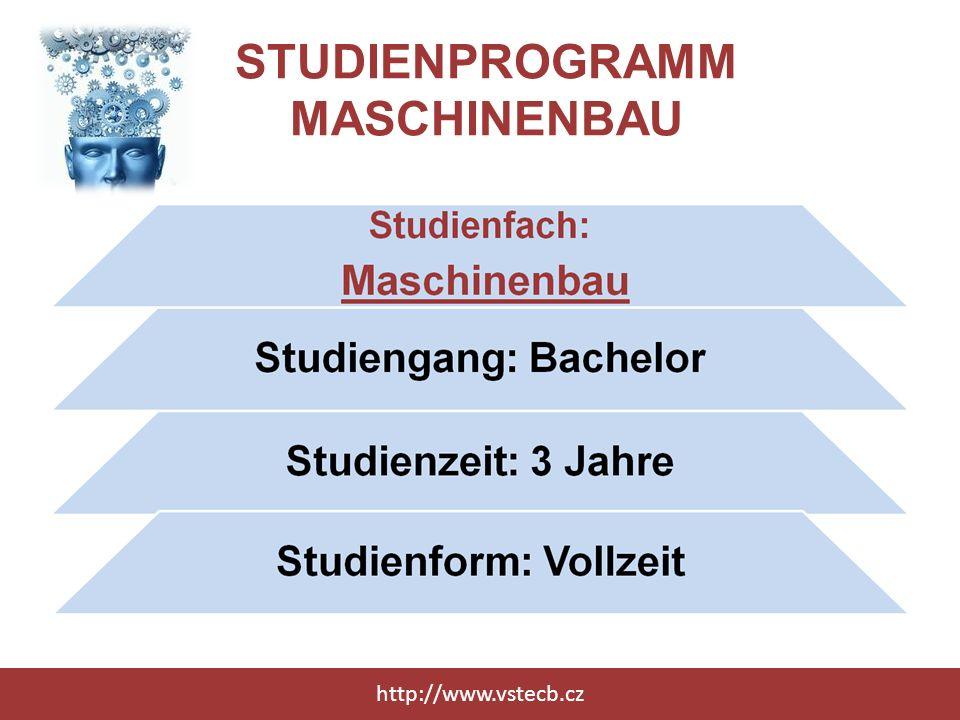 STUDIENPROGRAMM VERKEHRSTECHNOLOGIE http://www.vstecb.cz