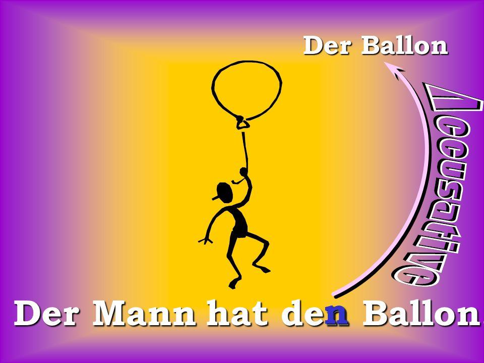Der Ballon Der Mann hat den Ballon. n