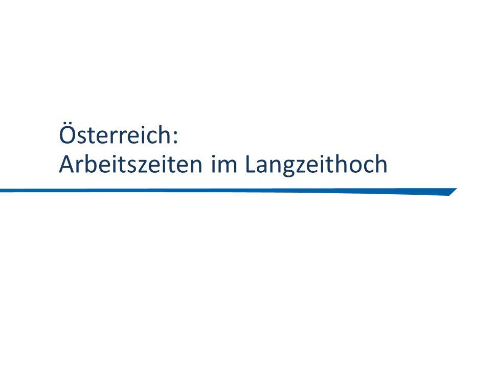 Österreich: Arbeitszeiten im Langzeithoch