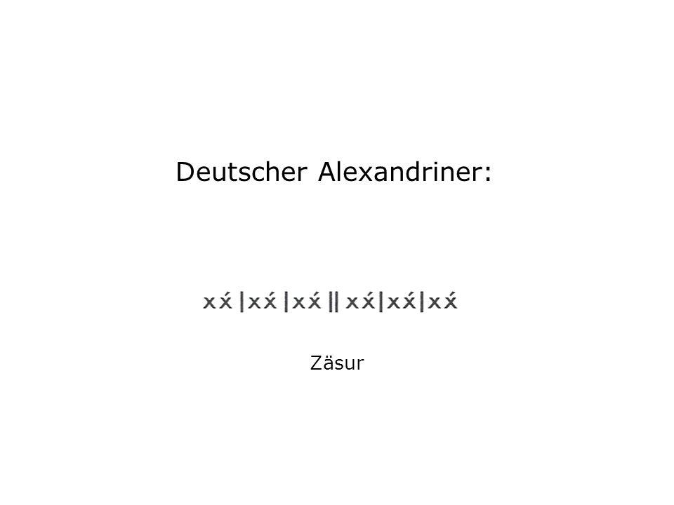 Deutscher Alexandriner: Zäsur