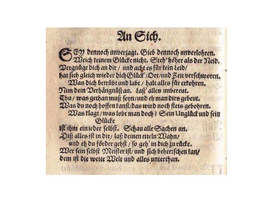 Martin Opitz (1597-1639): Buch von der deutschen Poeterey (1624)