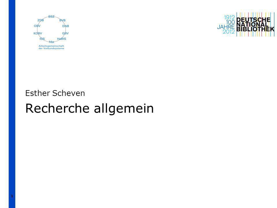 Übersicht 1.Zur Suche allgemein 2.Indexierung und allgemeine Suchtipps 3.Suche in den 5xx-Feldern | Esther Scheven | GND-Schulung Suchstrategien in ILTIS | April 2012 2