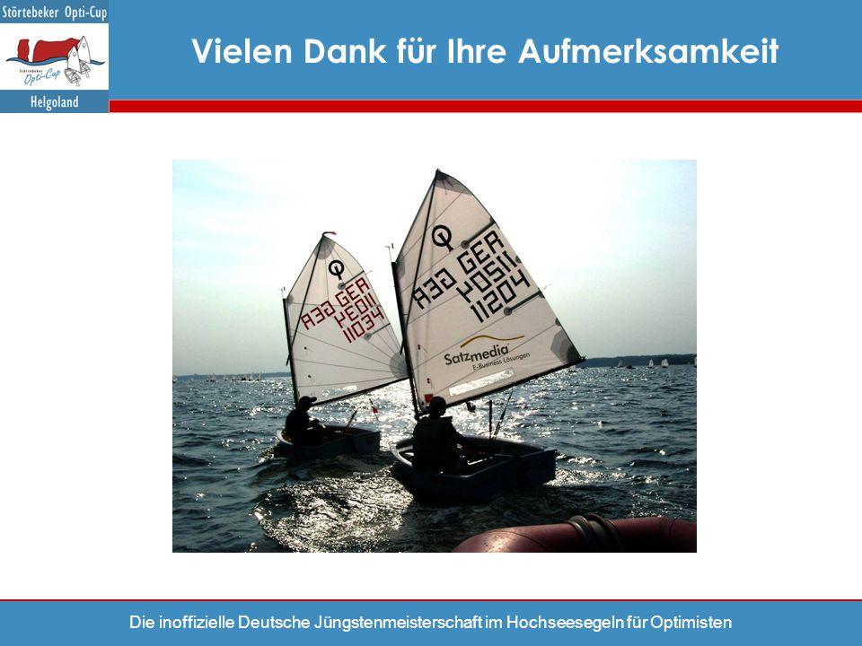 Die inoffizielle Deutsche Jüngstenmeisterschaft im Hochseesegeln für Optimisten Vielen Dank für Ihre Aufmerksamkeit