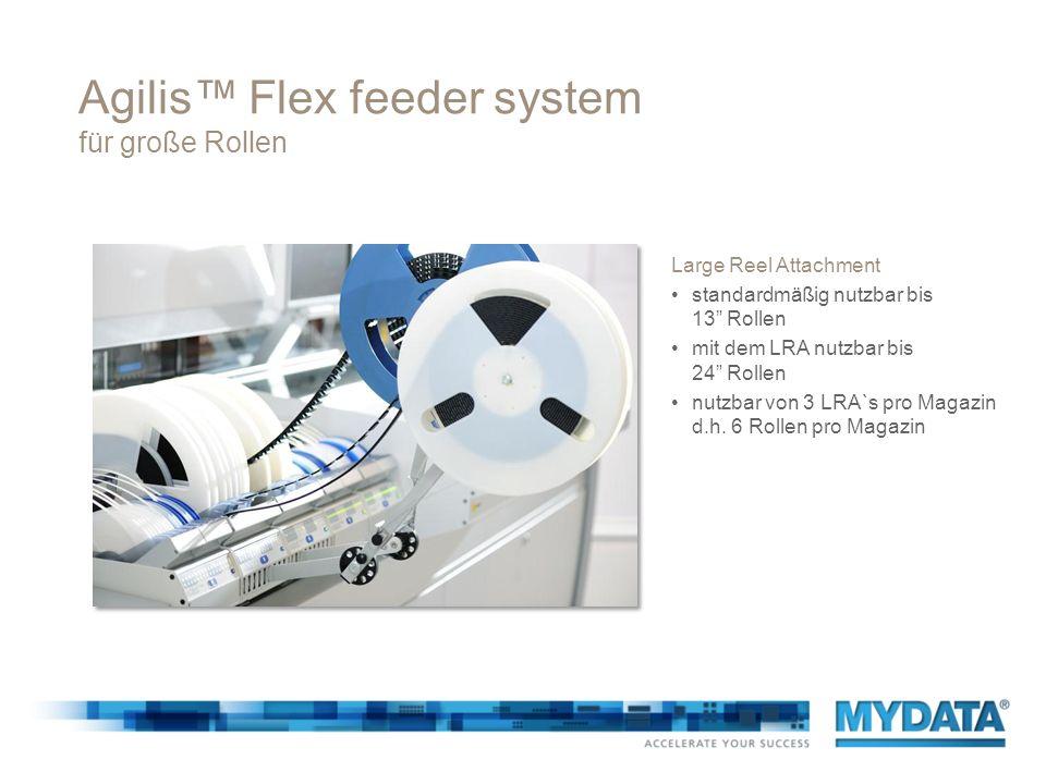 Agilis Flex feeder system für große Rollen Large Reel Attachment standardmäßig nutzbar bis 13 Rollen mit dem LRA nutzbar bis 24 Rollen nutzbar von 3 L