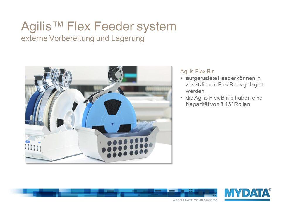 Agilis Flex Feeder system externe Vorbereitung und Lagerung Agilis Flex Bin aufgerüstete Feeder können in zusätzlichen Flex Bin´s gelagert werden die