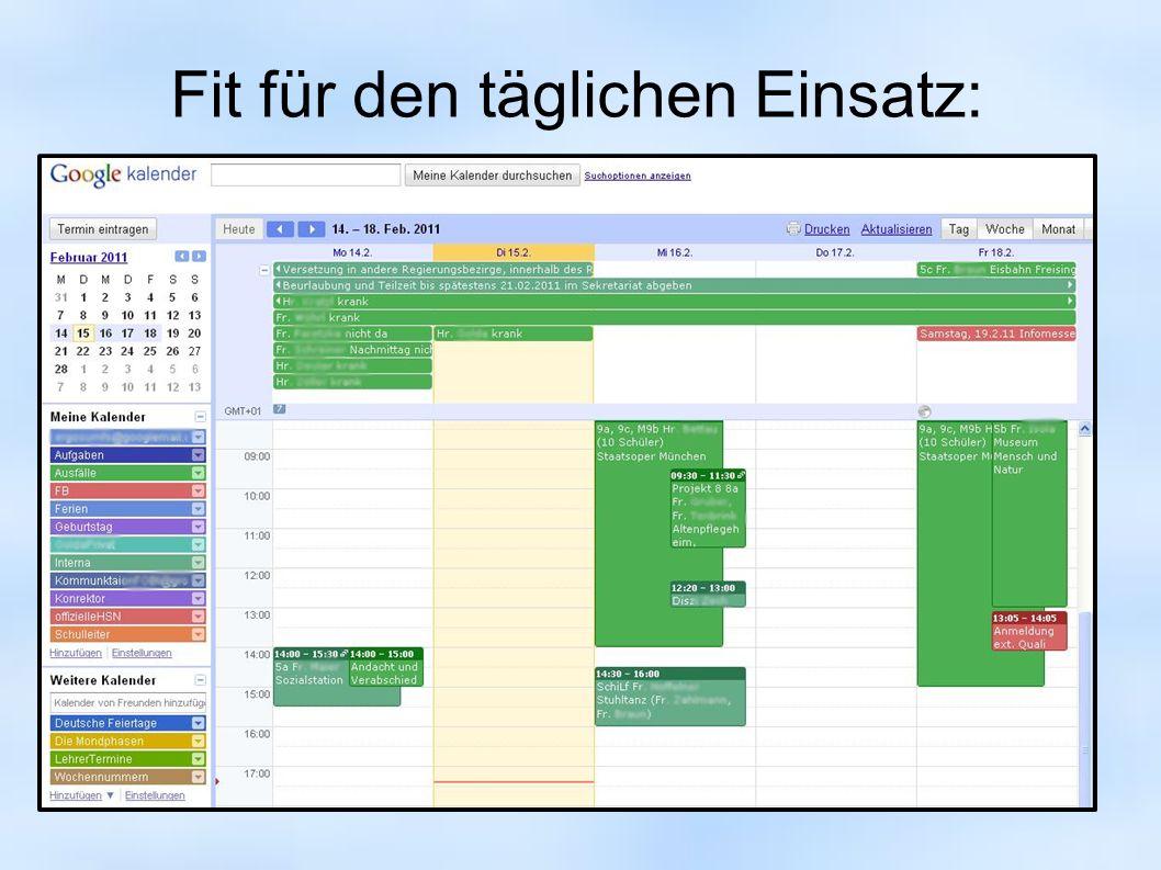 Kalender exportieren: Format iCal (xkalender.ics) andere Programme einsetzen, z.B.