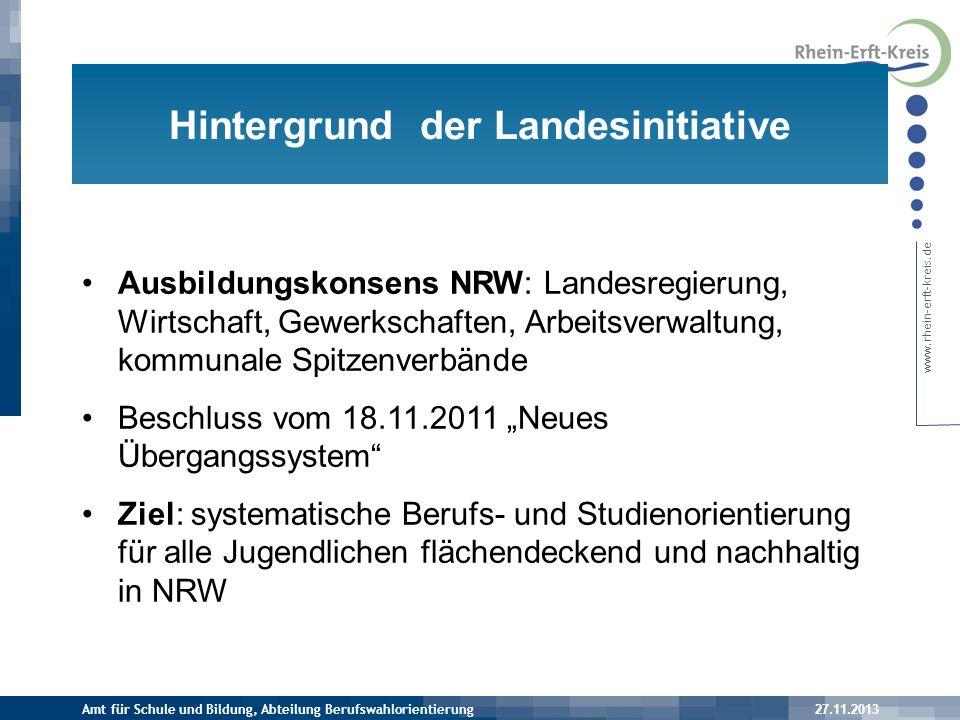 www.rhein-erft-kreis.de 1.Berufs- und Studienorientierung > für alle Jugendlichen ab Klasse 8 2.