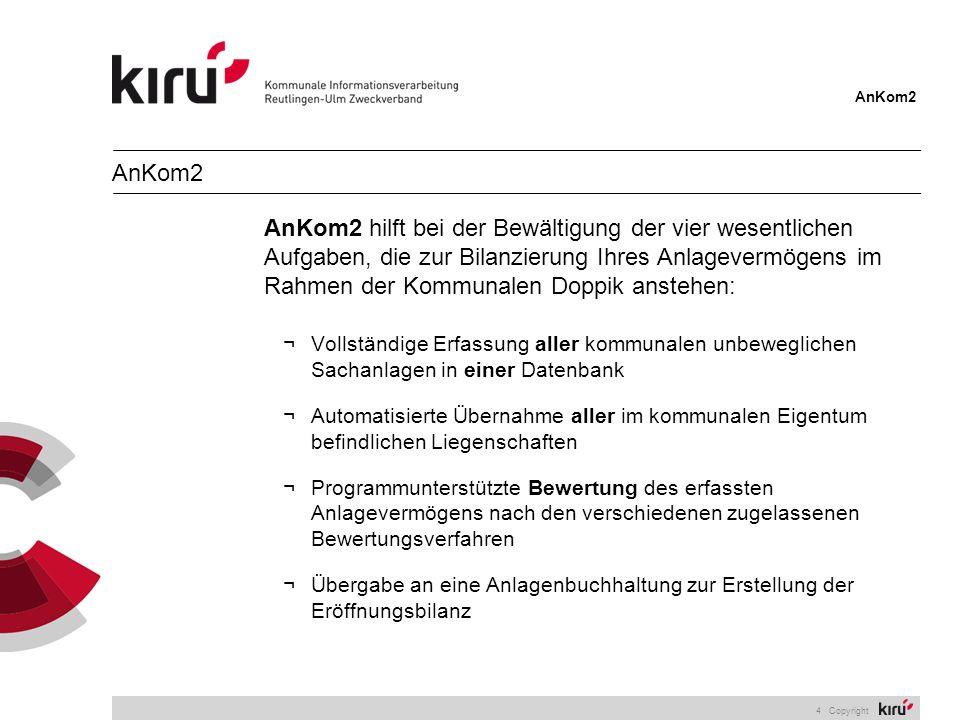 AnKom2 15 Copyright Bewertungsverfahren Nicht zugelassene Verfahren können bei der Bearbeitung des jeweiligen Wirtschaftsgutes deaktiviert werden.