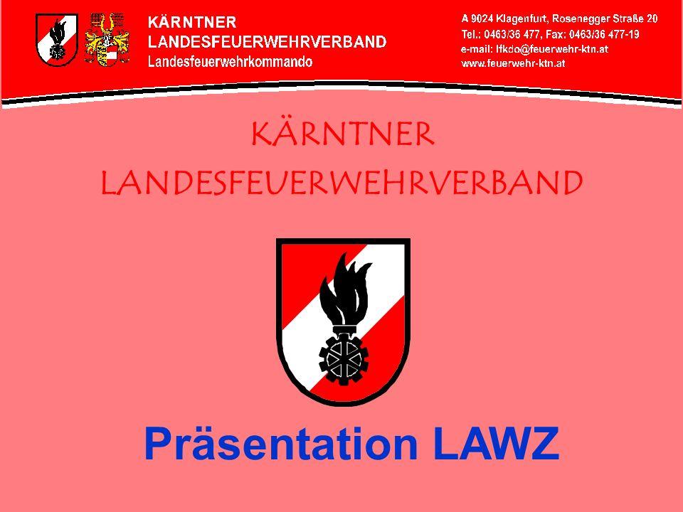 Bundesland Kärnten gliedert sich in: 10 politische Bezirke 27 Feuerwehrabschnitte 132 Gemeinden 400 Freiwillige Feuerwehren 20 Betriebsfeuerwehren 1 Berufsfeuerwehr 23.084 Mitglieder
