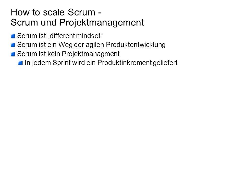 How to scale Scrum - Das Team Der Erfolg eines Produktes hängt maßgeblich von denen ab, die das Produkt schaffen.