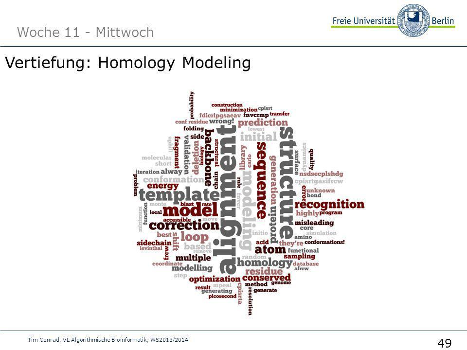 Woche 11 - Mittwoch Tim Conrad, VL Algorithmische Bioinformatik, WS2013/2014 49 Vertiefung: Homology Modeling