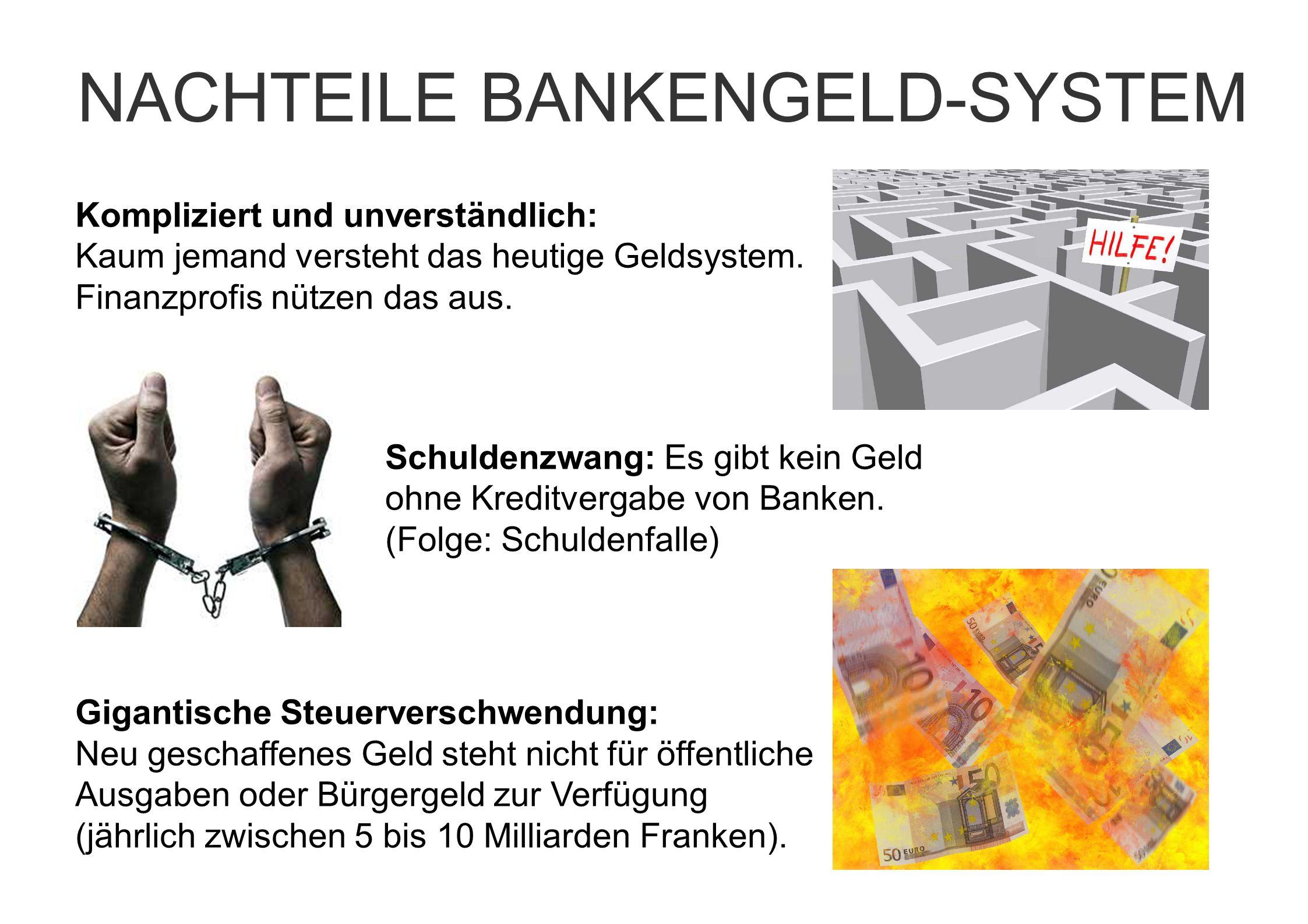 Kompliziert und unverständlich: Kaum jemand versteht das heutige Geldsystem. Finanzprofis nützen das aus. Schuldenzwang: Es gibt kein Geld ohne Kredit