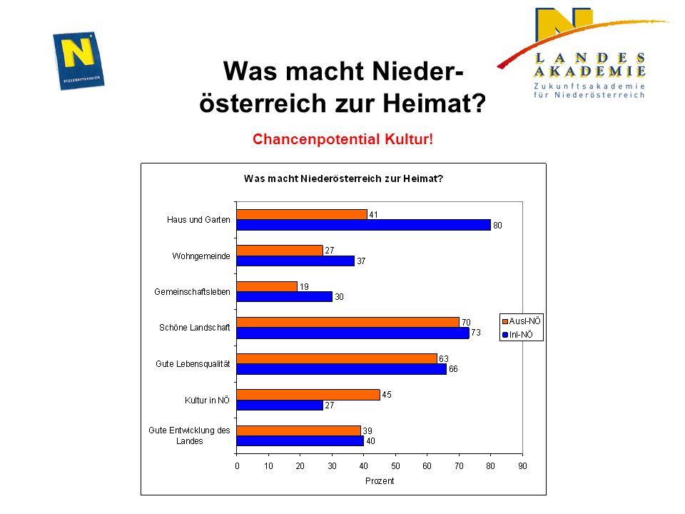 Was macht Nieder- österreich zur Heimat Chancenpotential Kultur!