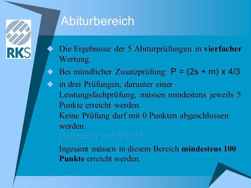 Abiturbereich