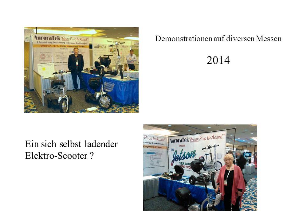 Demonstrationen auf diversen Messen 2014 Ein sich selbst ladender Elektro-Scooter ?