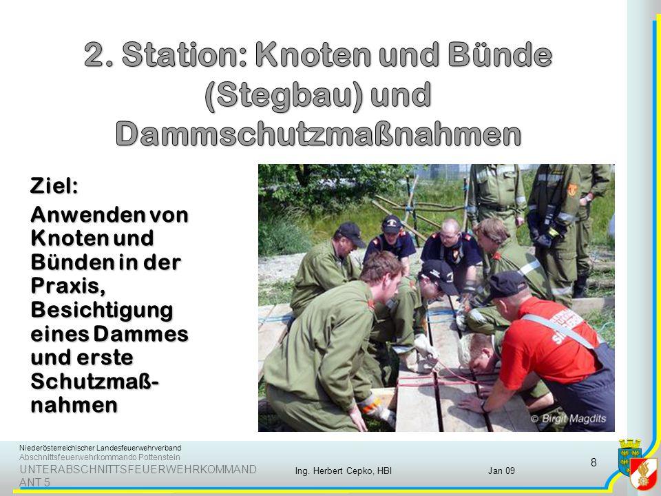 Niederösterreichischer Landesfeuerwehrverband Abschnittsfeuerwehrkommando Pottenstein UNTERABSCHNITTSFEUERWEHRKOMMAND ANT 5 Jan 09Ing.