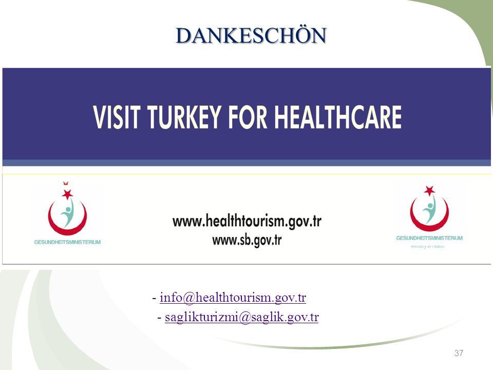 37 DANKESCHÖN - info@healthtourism.gov.trinfo@healthtourism.gov.tr - saglikturizmi@saglik.gov.trsaglikturizmi@saglik.gov.tr