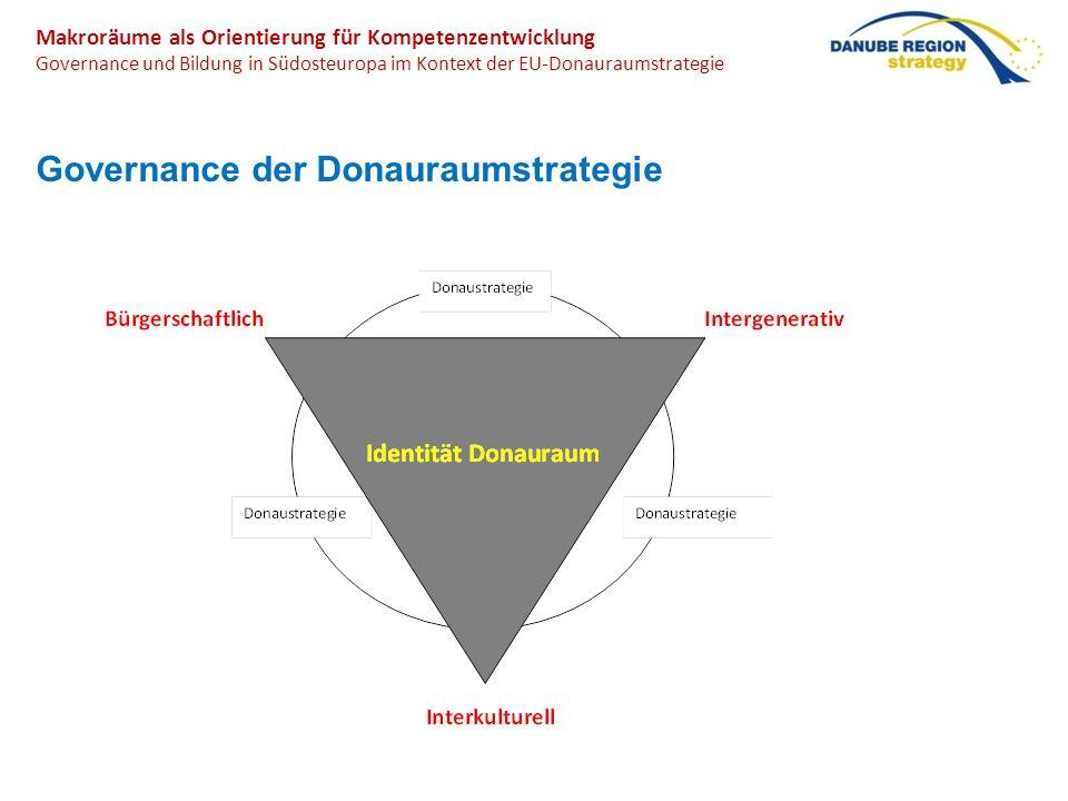 Makroräume als Orientierung für Kompetenzentwicklung Governance und Bildung in Südosteuropa im Kontext der EU-Donauraumstrategie Governance der Donaur