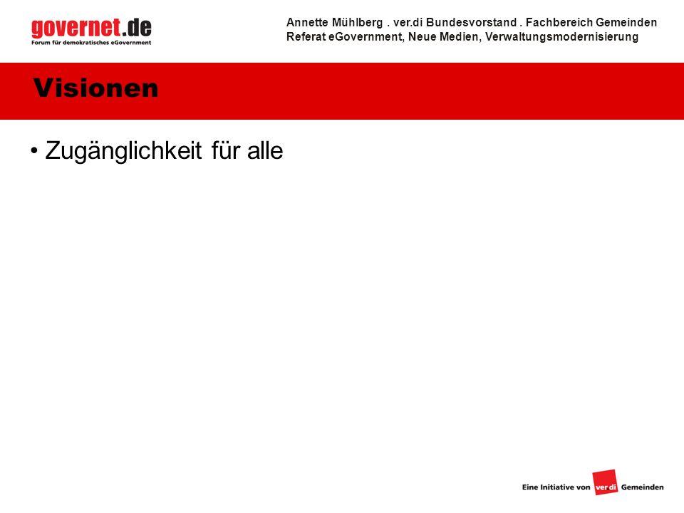 Zugänglichkeit für alle Visionen Annette Mühlberg.