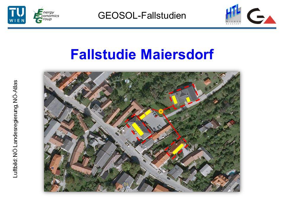 GEOSOL-Fallstudien Fallstudie Maiersdorf Luftbild: NÖ Landesregierung, NÖ-Atlas
