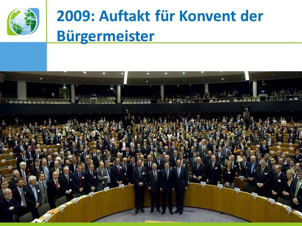2009: Auftakt für Konvent der Bürgermeister