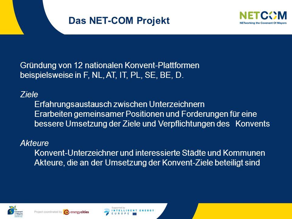 Gründung von 12 nationalen Konvent-Plattformen beispielsweise in F, NL, AT, IT, PL, SE, BE, D. Ziele Erfahrungsaustausch zwischen Unterzeichnern Erarb