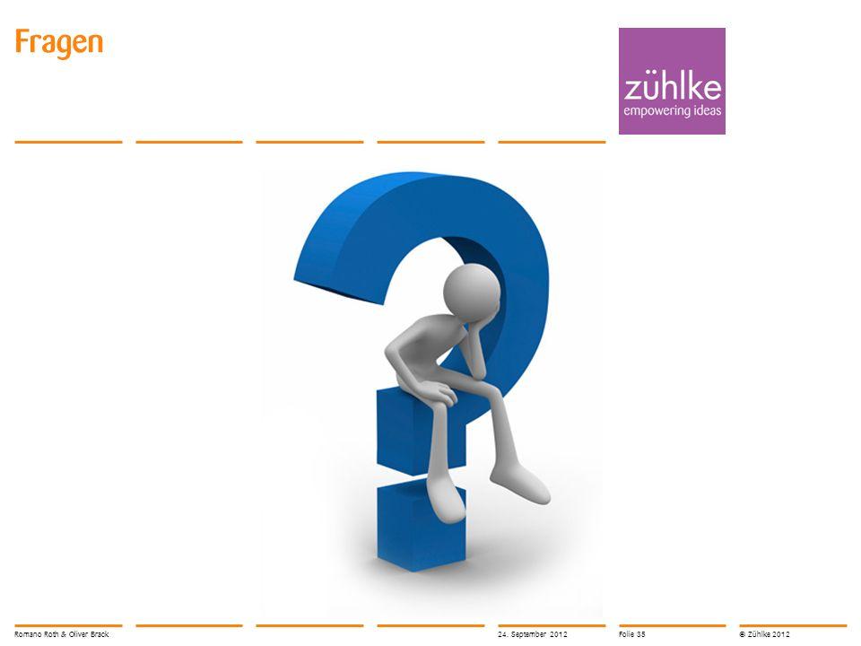 © Zühlke 2012 Fragen Romano Roth & Oliver Brack24. September 2012Folie 35