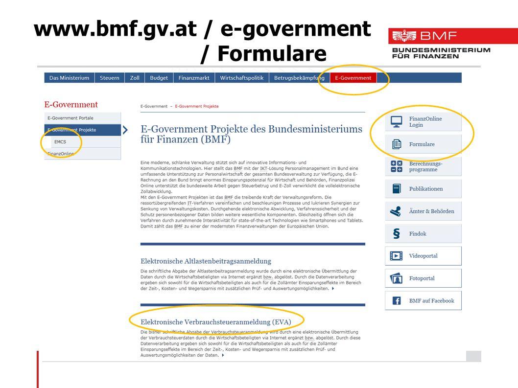 www.bmf.gv.at / e-government / Formulare