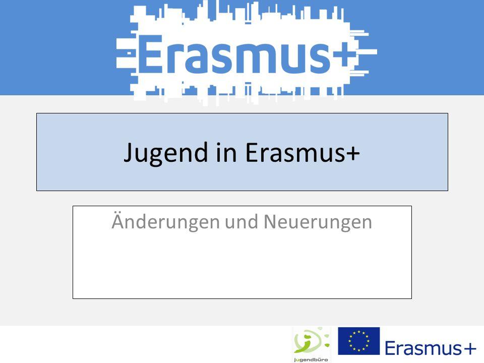 Jugend in Erasmus+ Änderungen und Neuerungen