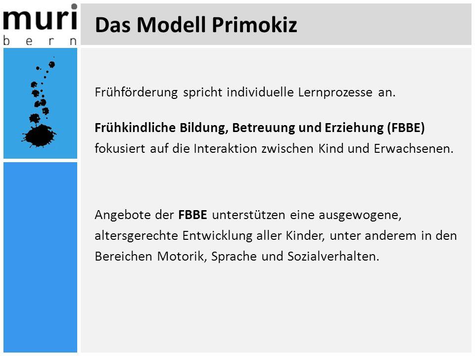 Das Modell Primokiz Frühförderung spricht individuelle Lernprozesse an. Frühkindliche Bildung, Betreuung und Erziehung (FBBE) fokusiert auf die Intera