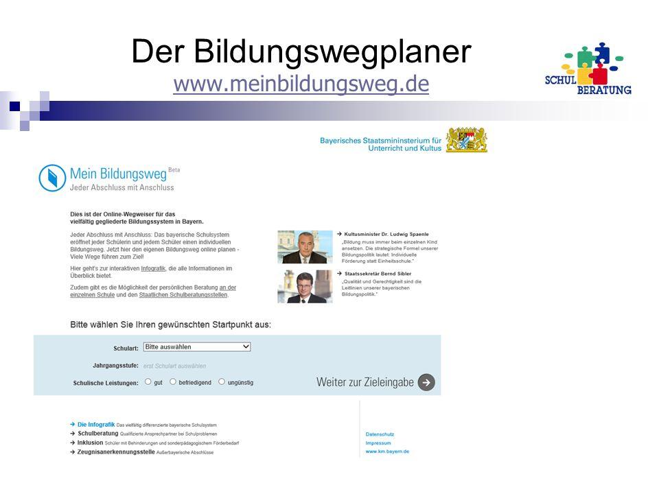 Der Bildungswegplaner www.meinbildungsweg.de www.meinbildungsweg.de