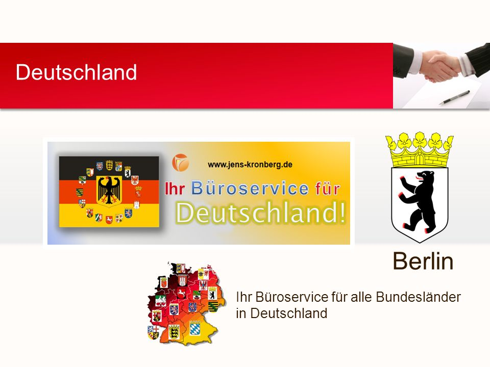 Deutschland Ihr Büroservice für alle Bundesländer in Deutschland Berlin